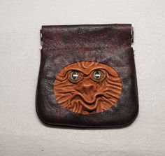 Leather Change Pouch Coin Holder Money Pinch Purse by LeasBoutique