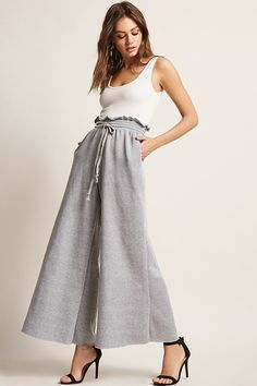 f7d4e38067b Wide leg combo tank top jumpsuit Forever 21 Outfits