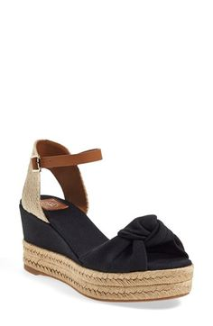 Tory Burch Ankle Strap Espadrille Platform Sandal (Women) available at #Nordstrom