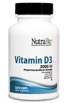 Vitamin D (2000 IU) - 120 Caps D3 in only rice flour inside vegetable capsule