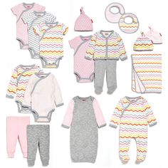 The new Skip Hop Layette collection shown in pink - super affordable baby gifts!