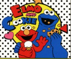 Elmo and Cookie monstrt