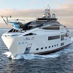 A amazing yacht with his helicopter. Luxury Sailing Yachts, Luxury Jets, Top Luxury Cars, Yachting Club, Yatch Boat, Bateau Yacht, Grand Luxe, Lux Cars, Cool Boats
