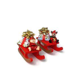 Dollhouse Miniature Sleigh with Presents