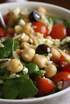 Mediterranean Orzo Salad: Easy to put together salad which is packed with protein and has a delicious dressing.