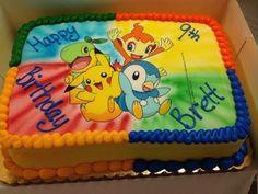 Inspiration Picture of Pokemon Birthday Cakes - Birthday Cake Flower Ideen Bolo Fake Pokemon, Bolo Pikachu, Pikachu Cake, Pikachu Pikachu, Baby Pokemon, Cakes Pokemon, Pokemon Torte, Pokemon Birthday Cake, Cupcake Birthday Cake