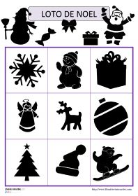 Jeu de loto des ombres de Noël Deux jeux de loto avec 18 ou 27 images (ombres et contours) sur le thème de Noël (Père Noël, sapin, cloches, bonbons, cadeaux, traîneau, guirlandes, flocons de neige...). Christmas Activities For Kids, Winter Crafts For Kids, Winter Kids, Christmas Projects, Noel Christmas, Christmas Colors, Winter Christmas, Theme Noel, Toddler Fun