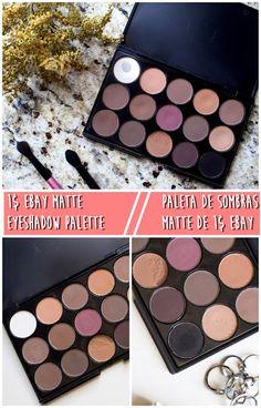 Ebay !$ matte eyeshadow palette review  Paleta de sombras mate/matte de ebay!