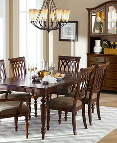 I'm feeling this!! Might look great at our new place! Crestwood Dining Room Furniture Collection from Macy's