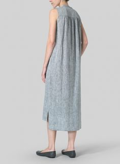 MISSY Clothing - Linen Slip On Dress