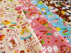 29.【楽天市場】【50cm単位】 コットンオックス アリスプリント【生地】:fabric bird