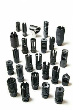 Supressores de flash, freios focinho, compensadores, híbridos... Escolha seu supressor.
