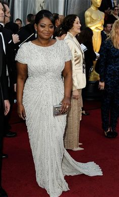 #Oscars 2012: Octavia Spencer, nominated for her role in 'The Help.' Wearing Tadashi Shoji.