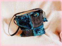 Handmade by Judy Majoros- Turquoise-black faux fur Bag Fur Bag, Faux Fur, Turquoise, Handmade, Bags, Fashion, Handbags, Moda, Hand Made