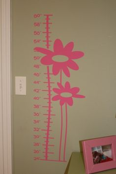 Flower Growth Chart, vinyl decor