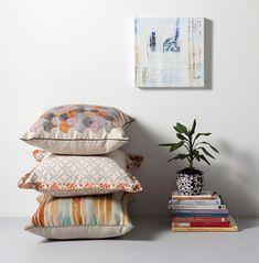 Emily Wright of Nancybird - The Design Files Large Cushions, Printed Cushions, Interior Styling, Interior Decorating, Interior Design, Interior Architecture, The Design Files, Inspired Homes, Soft Furnishings