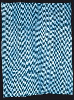 Africa | Wrapper from the Ebira people of Nigeria.  Ikat; cotton.  ca. 1973 | © Museum der Kulturen, Basel