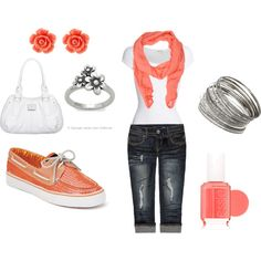 "Love these colors!!! ""Spring Outfit"" by kyliemichelew on Polyvore"