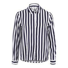 PIECES Streifen Hemd navy / weiß