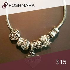 """""""MOM"""" Silver Clasp Bracelet Last minute Mother's Day gift! Quick pick up in Ruskin! Will ship for free, but can't be promised by Sunday. Jewelry Bracelets"""