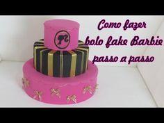 Como fazer bolo fake Barbie passo a passo - YouTube