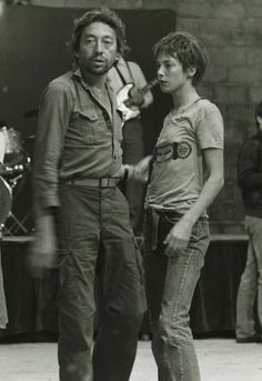 Jane Birkin and Director Serge Gainsbourg on the set of Je t'aime moi non plus, 1976. Photo by Georges Pierre