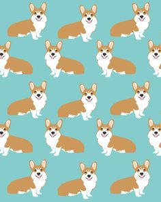Welsh Corgi cute pattern mint corgi puppy funny dog person gifts for the corgi owner must haves Art Print