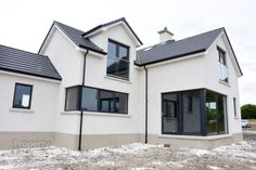 House Paint Exterior, Exterior House Colors, Exterior Design, Dream Home Design, House Design, Houses In Ireland, Grey Houses, Exterior Makeover, Exterior Remodel