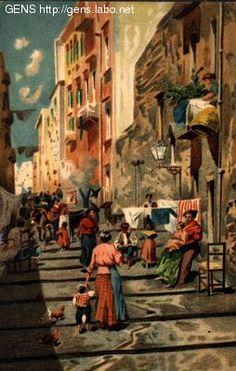 GENS - Cartoline antiche, Napoli/Naples