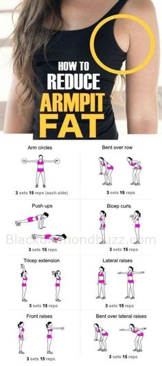 How to Get Rid of Armpit Fat Fast Healthy Society. armpit fat workout armpit fat workout no equipment armpit fat exercises armpit fat workout arm pits armpit fat workout double chin Armpit Fat Solutions by alexandria Fitness Diet, Fitness Motivation, Health Fitness, Yoga Fitness, Muscle Fitness, Workout Fitness, Physical Fitness, Free Fitness, Exercise Motivation