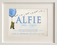 Personalised new baby boygirl winnie the pooh nursery birth name personalised new baby boygirl winnie the pooh nursery birth name print keepsake picture christening negle Images