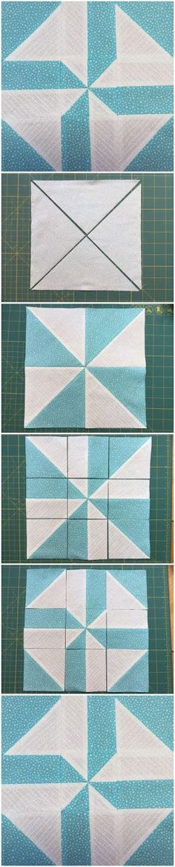 Block 8: Disappearing pinwheel quilt sampler