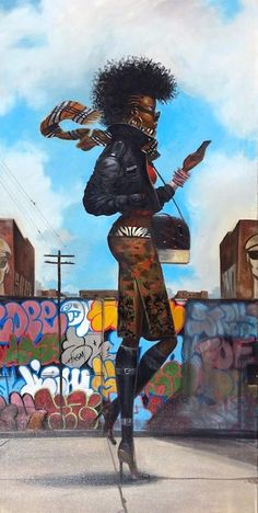 """aguycalledkwest: """"fuckboyizm: """" loopez: """" Back 'N' The Dayz, by Frank Morrison. """" I really love this """" Dope art! African American Artwork, American Artists, African Art, Black Love Art, Black Girl Art, Frank Morrison Art, Arte Black, Christmas Paintings On Canvas, Natural Hair Art"""