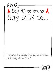 Red Ribbon Coloring Pages Drug Free Week