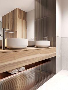 Petite, Precious & Pastel Home Interior (Interior Design Ideas) Bathroom Colors, Bathroom Sets, Bathroom Faucets, Bathroom Shelves, Bathroom Organization, Modern Bathroom Design, Bathroom Interior Design, Home Interior, Futuristisches Design
