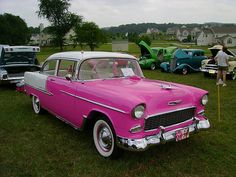 1956 Chevy Bel Air in PINK!!!!!!!!!!!!!!!!!!!! but i still want my 57...