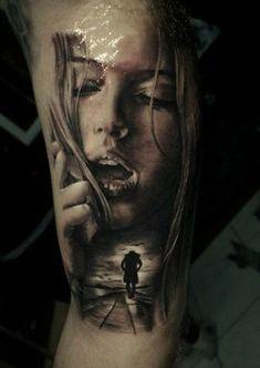 #tattoos girl face tattoo