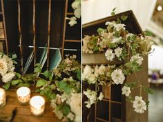 Guest book table flowers from Botanique: Coogan and Chuck at Sodo Park | Chantal Andrea Photography