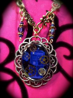 TARDIS Gears Necklace..