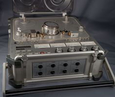 """The NAGRA-D was the ultimate mix of Swiss high precision mechanical engineering and the intricate complexity of modern digital techniques. Offering performances second-to-none, it could really be considered the """"Rolls Royce"""" of all audio recorders. In 1999 it was redesigned a little to create the DII version but kept the same overall format and look."""