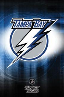 Tampa Bay Lightning Official NHL Hockey Team Logo Poster