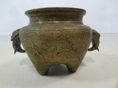 Vintage #brass #elephant #vase available at #NYC #Mecox #interiordesign #NewYork #furniture #shopping #home #decor #design #room #designidea #antiques #garden
