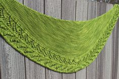 Lily of the Valley Garden Shawl by Heather Anderson. malabrigo Sock in Lettuce colorway.