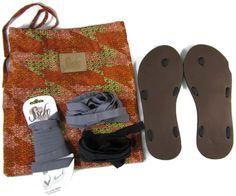 Sseko Womens Sandals Brown Leather Sz 6 Ribbon Handcrafted Shoe Lot  #Sseko #FlipFlops