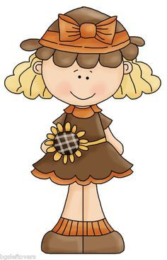 Clipart Of Adorable Little Girl Sunflower On Head - Google Search