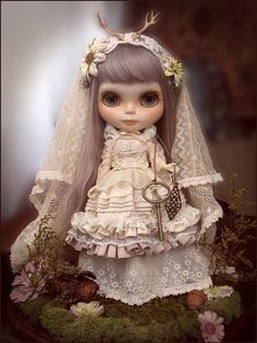 mori bride blythe custom by kitty bee on Flickr.