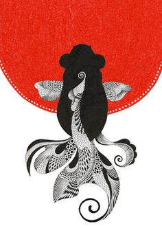 one of my most loved subjects. Koi Art, Fish Art, Japan Art, Graffiti, Doodle Art, Bunt, Art Drawings, Illustration Art, Artwork