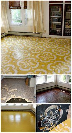 painting of wood floor