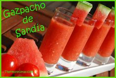 Gazpacho de Sandía Spanish Dishes, Spanish Tapas, Healthy Cooking, Healthy Recipes, Vegetarian Recepies, Soup Recipes, Cooking Recipes, Summer Recipes, Food Hacks