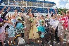 Helen and Sam�s 1950s Rockabilly Wedding With a Yellow Wedding Dress, by Kirsten Platt Photography